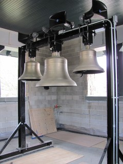 3 NEW VERDIN BELLS WITH STAND